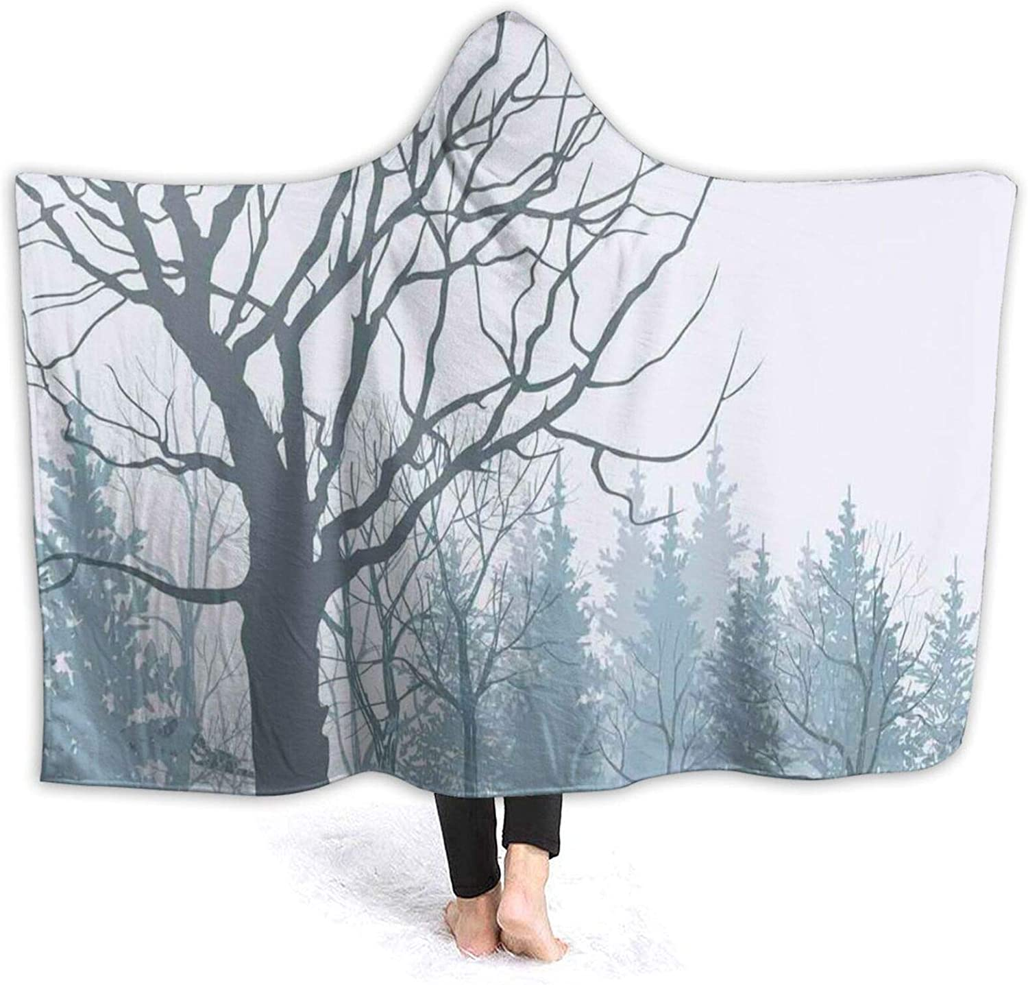 Hooded Blanket Anti-Pilling Flannel Winter Season Tree A W Popular brand Theme High material