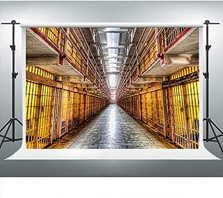 Prison Bars Mugshot Backdrop Police Station Jail Background 7x5ft Party Photo Booth Studio Props ZYVV0589