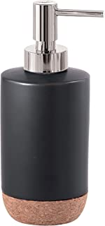 Gedy Ilary Soap Dispenser, Ceramic, Black, 7x 7x 17