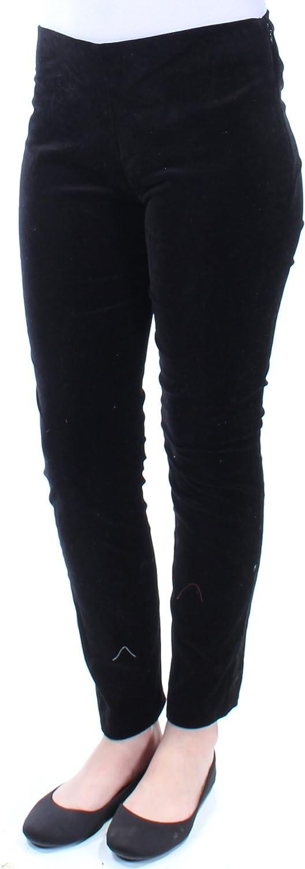 Ralph Lauren Womens Velvet Stretch Skinny Pants Black 12