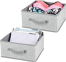 mDesign Pojemniki do przechowywania – Kosze do przechowywania – Pudełka do przechowywania – 2-pak – Szary