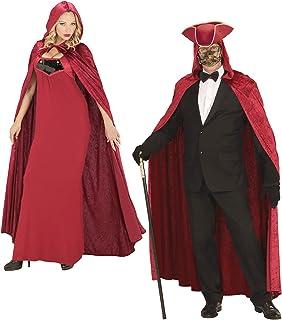 Red Hooded Velvet Cape 120cm Accessory for Superhero Super Hero Fancy Dress