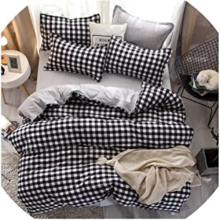 TaiGu Fashion Simple Style Home Bedding Sets Bed Linen Duvet Cover Flat Sheet Bedding Set Winter Full King Single Queen,Bed Set,AC19,Twin 4pcs 150by200,Flat Bed Sheet