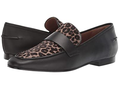 Emporio Armani Pony Hair Leopard Loafer (Sage/Black) Women