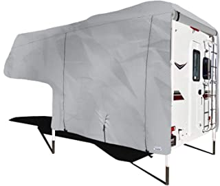 """North East Harbor Waterproof Superior Truck Bed Camper Storage Cover Fits Length 10`-12` Heavy Duty 4 Layer Fabric Camper Cover - 144"""" L x 102"""" W x 99"""" H"""