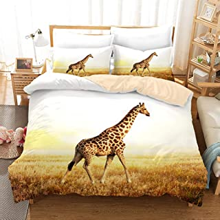 3D Personalized Design Giraffe Duvet Cover Set Style Microfiber Decoration Room home (Twin -Style 16)