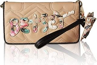 Betsey Johnson Womens Double Entry Wristlet Wallet