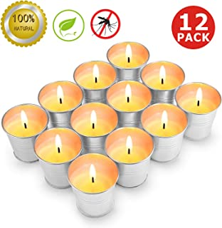 MEIGAO Citronella Scented Candles Gift Set Soy Wax Bucket Candle Seaside Escape Indoor and Outdoor 12-Pack