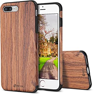 iPhone 8 Plus Case/iPhone 7 Plus Case, B BELK [Air To Beat] Non Slip Soft Wood Slim Bumper, Scratch Resistant Grip Ultra Light TPU Snap Back Cover with Rubber Corner for Apple iPhone 8 Plus/7 Plus