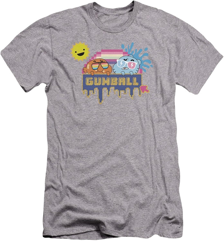 Amazing World Of Gumball  Mens Sunshine Premium Slim Fit TShirt