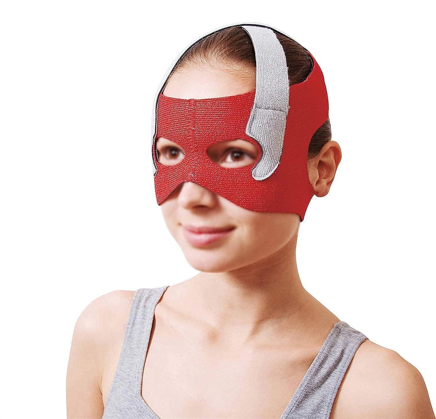 感謝マネージャーインストールフェイスリフトマスク、回復ポスト包帯ヘッドギアフェイスマスク顔薄いフェイスマスクアーティファクト美容ベルト顔と首リフト顔周囲57-68 cm
