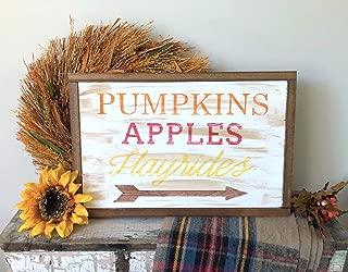 Silver8847 Pumpkins Apples Hayrides Fall Decor Fall Sign Fall Mantle Decor Pumpkin Sign Rustic Fall Sign Rustic Fall Decor