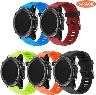 TOPsic Garmin Fenix 3 Correa de Reloj, Banda Reemplazo de Silicona Suave Deportiva con Herramientas para Garmin Fenix 3 / Reloj Elegante de Fenix 3 HR Multi-Colors
