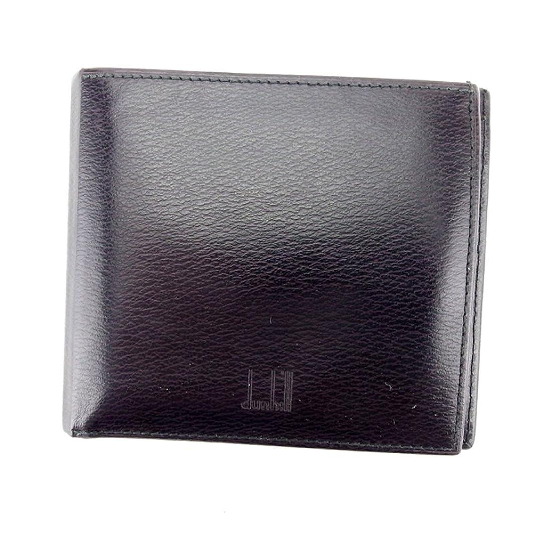 爆発異常意見(ダンヒル) Dunhill 二つ折り 札入れ 二つ折り 財布 ブラウン レディース メンズ 可 中古 T6022
