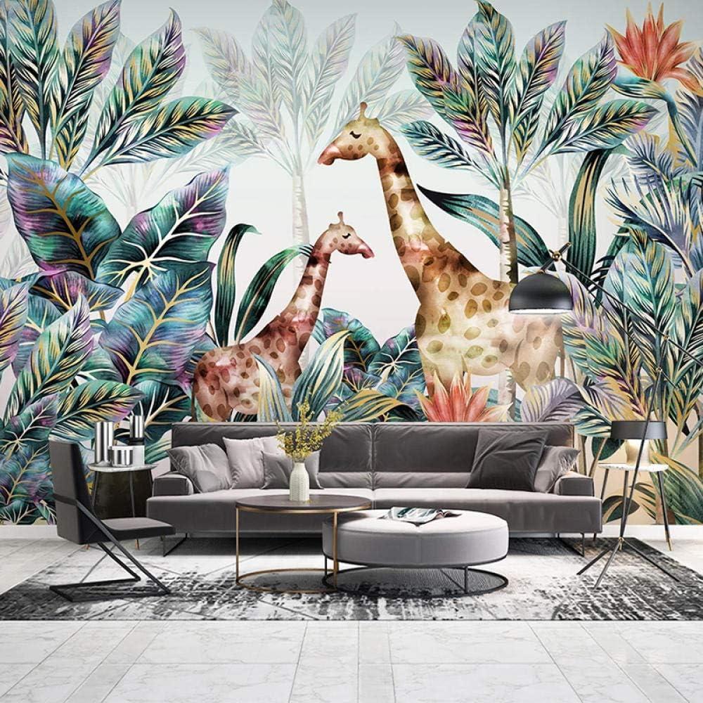 Msrahves 3D Door Stickers murals Landscape Leaves Nordic Large discharge sale San Jose Mall Giraffe