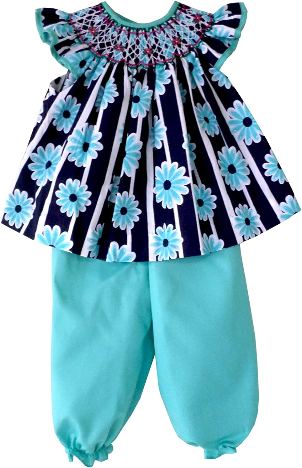 Hand Smocked Max 87% OFF Easter Dress for Baby 2 with Challenge the lowest price of Japan Pants Girls Turquoise
