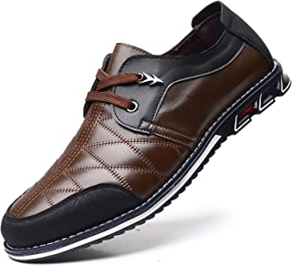 Men Casual Shoes Sneakers Loafers Breathable Comfort Walking Shoes Fashion Driving Shoes Luxury Black Blue Leather Shoes for Male Business Work Office Dress Outdoor