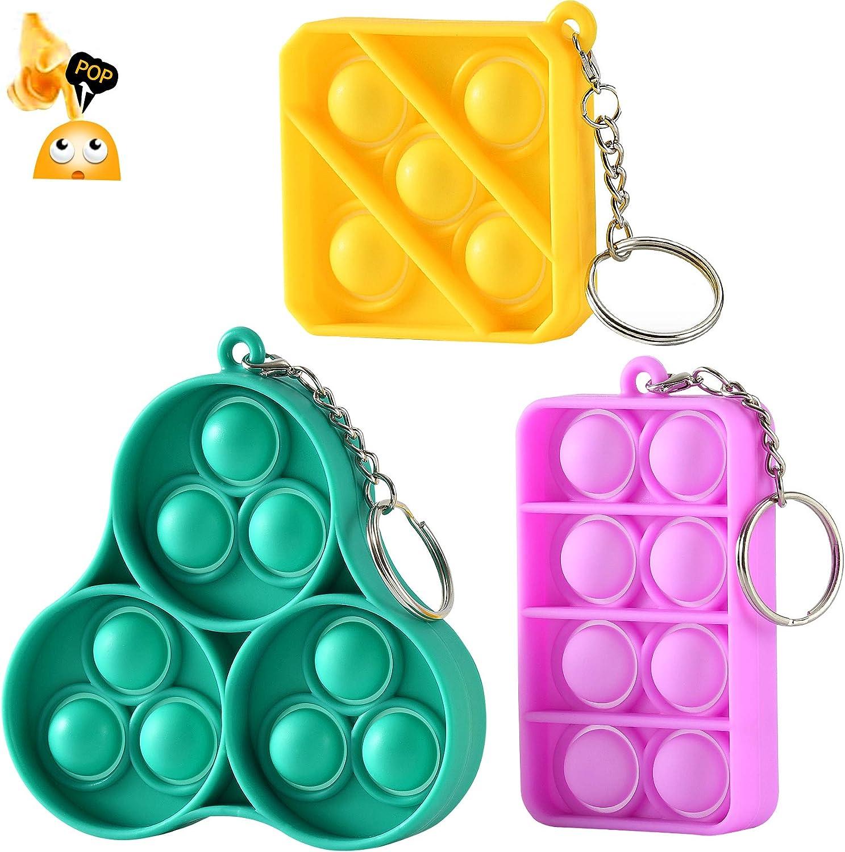 BRAVE PERSON Mini Pop Fidget Toy Push Pop Bubble Sensory Toy Kid