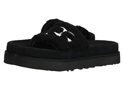 UGG Laton Fur Slide (Black) Women