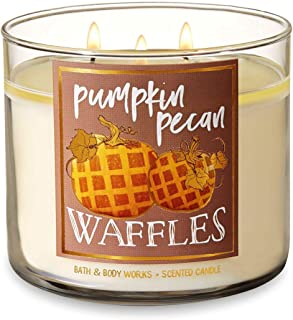 Bath and Body Works Pumpkin Pecan Waffles Candle - Large 14.5 Ounce 3-wick Limited Edition Fall Pumpkin Cafe