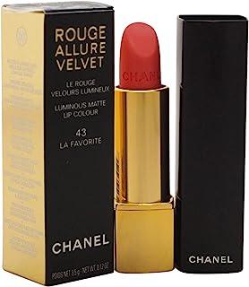 CHANEL Rouge Allure Velvet barra de labios Rosa Mate 35 g - Barras de labios (Rosa La Favorite 1 Colores Mujeres Mate...
