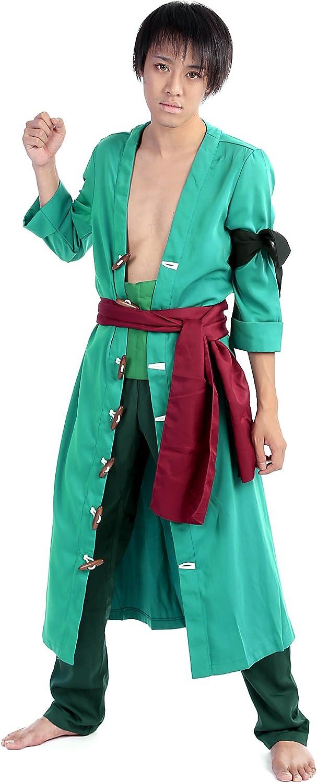 tienda en linea De-Cos De-Cos De-Cos CosJugar Costume Pirate Hunter Marimo Roronoa Zoro Outfit Set V2  punto de venta