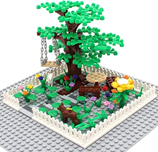 Botanical Scenery Accessories Trees, Flowers, Swing and Fences Garden Park Building Block Toy Plant Set Compatible All Maj...