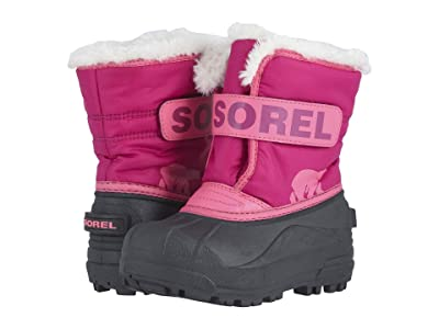 SOREL Kids Snow Commander (Toddler/Little Kid) (Tropic Pink/Deep Blush 1) Girls Shoes