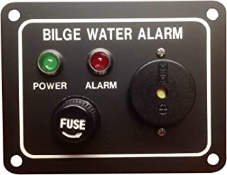 Pactrade Marine Boat Bilge Alarm Pump Switch Aluminum Plate, LED Indicators