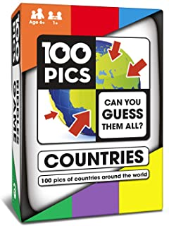 (Countries) - 100 PICS Countries of The World Quiz Travel Game - Educational Family Flash Card Puzzle Games for Kids and A...