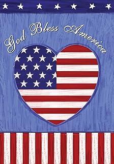 "Best Toland Home Garden 112625 God Bless The US Flag, Garden (12.5"" x 18"") Review"