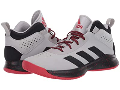 adidas Kids Cross Em Up 5 Wide Basketball (Little Kid/Big Kid) (Grey Two/Core Black/Scarlet) Kids Shoes