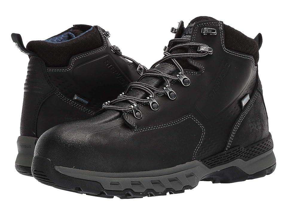 Timberland PRO Downdraft 6 Alloy Safety Toe Waterproof (Black Leather) Men