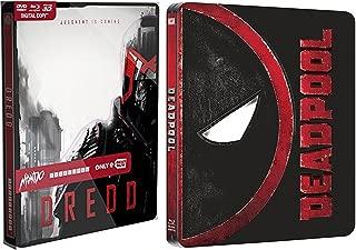 Deadpool Steelbook Exclusive DVD + Blu Ray & Dredd - Limited Edition Mondo X Steelbook [Blu-ray 3D - Blu-ray - DVD) Movie Pack Hero Bundle