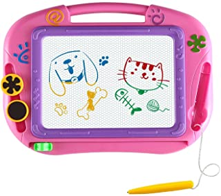 AMZCARS Magna Drawing Doodle Board Gifts Toys Age for 1 2 3 4 Year Old Girl,Magnetic..