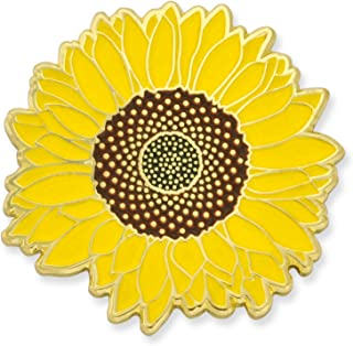Detailed Yellow Sunflower Summer Enamel Lapel Brooch Pin