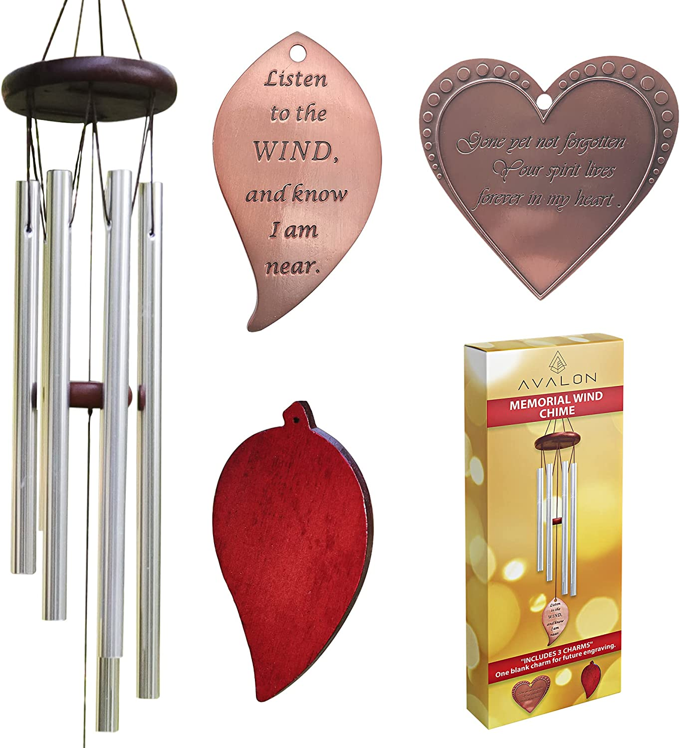 Free shipping Avalon 25 Inch 2021 autumn and winter new Memorial Wind Sympathy Bereavemen Chimes Gifts