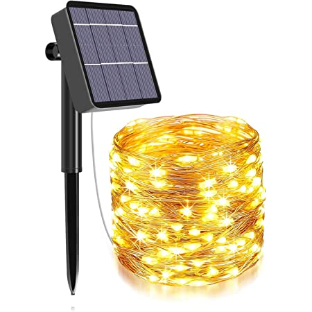 XERGY Solar Fairy String Lights Outdoor, 79Ft 240 LED with 1200mAh Inbuilt Rechargeable Batter IP65 Waterproof 8 Modes Copper Wire for Garden Yard Patio Christmas Tree Home Party Outdoor Decorative