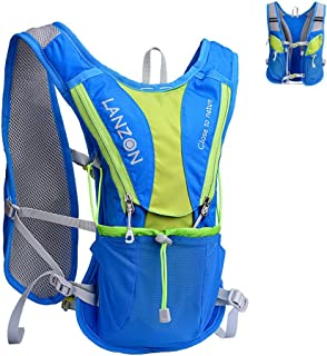 LANZON Hydration Pack | 2L or 3L Water Bladder | Marathon Running Vest, Hiking Cycling