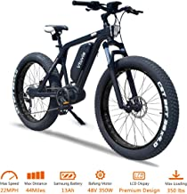 vtuvia Electric Bike Mid Drive Fat Tire Electric Bicycle 26