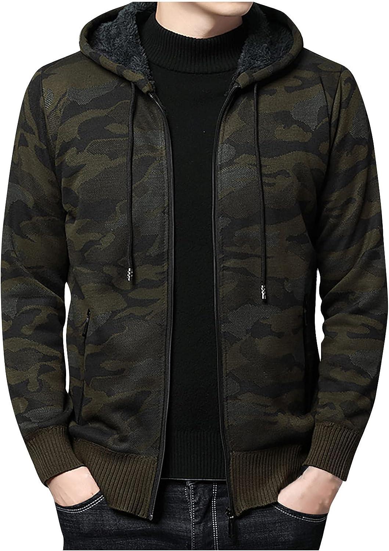 Men's Zip-Up Hooded [Alternative dealer] Long Sleeve Camo Casual Outdoor Our shop OFFers the best service Jackets Swea