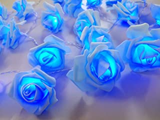 Fantasee LED Rose Flower String Lights Battery Operated for Wedding Home Party Birthday Festival Indoor Outdoor Decoration...