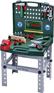 Theo Klein-8686 Bosch banco de trabajo en maletín con herramientas y ixolino, juguete, Multicolor, Miscelanea (8686)
