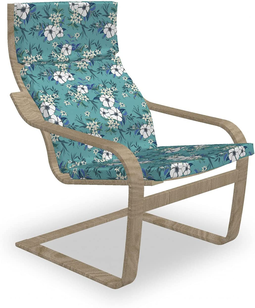 Mail order Ambesonne Floral Armchair Pad Slipcover Blossom Max 60% OFF and Flourishing