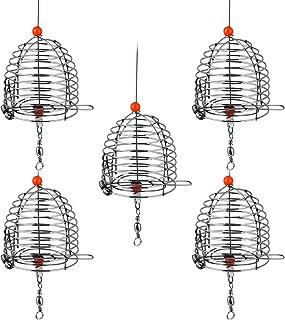 VORCOOL Stainless Steel Fishing Bait Cage Carp Fishing Bait Trap Cage Feeder Basket Holder Coarse Lure Feeder Carp Fishing Tackle Kit