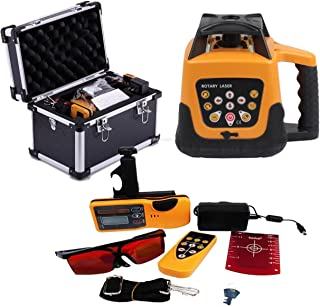 Iglobalbuy Automatic Electronic Self-Leveling Rotary Rotating Red Laser Level Kit 500M W/Goggles+ Carrying Case (Rotary Laser)