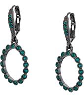 Oscar de la Renta - Small Crystal Circle P Earrings