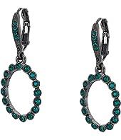 Oscar de la Renta - Small Crystal Circle P Earrings