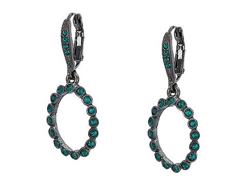 Oscar de la Renta Small Crystal Circle P Earrings