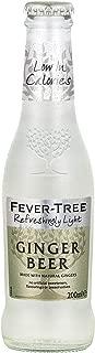 Fever-Tree Refreshingly Light Ginger Beer, 6.8 Fl Oz Glass Bottle (24Count)